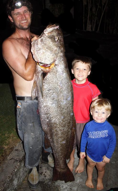Shane Johnson Mulloway 32kg Yamba Wall.jpg